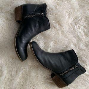 Lucky Brand Black Zip Ankle Booties Women's 6.5